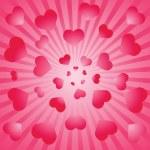 fond de la Saint-Valentin. vecteur illustratio — Vecteur