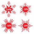 Royalty-Free Stock ベクターイメージ: Snowflakes - the sale announcement. Vect