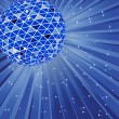 Royalty-Free Stock Vector Image: Blue disco ball. Vector illustration