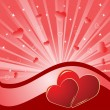 Valentine background. Vector illustratio — Stock vektor