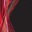 Stock vektor: Abstract red background