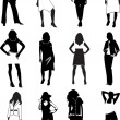 Royalty-Free Stock Vectorafbeeldingen: Fashion women