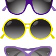 Collection of solar glasses — Vector de stock
