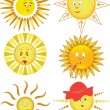 Collection of the sun - Stock Vector