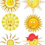 太阳的集合 — 图库矢量图片