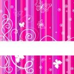 Pink banner — Stock Vector #1135596
