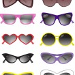 Royalty-Free Stock Vectorafbeeldingen: Collection of solar glasses