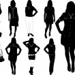 Royalty-Free Stock Imagem Vetorial: Fashion women2