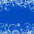 Royalty-Free Stock ベクターイメージ: Winter background with snowflakes
