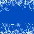 Royalty-Free Stock Vectorafbeeldingen: Winter background with snowflakes