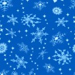 Royalty-Free Stock Imagen vectorial: Blue background with snowflakes