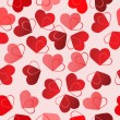 Valentine seamless background - Stok Vektr