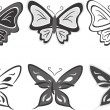 Collection of butterflies — Imagen vectorial