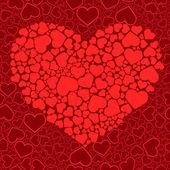 Alla hjärtans sömlös bakgrund. vektor il — Stockvektor