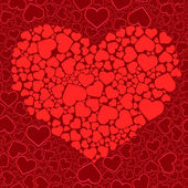 Valentine seamless background. Vector il — Vettoriale Stock