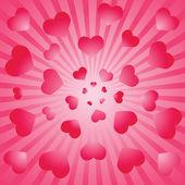 Valentine background. Vector illustratio — Stock vektor