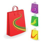 Collection of shopping bags. Vector illu — Stock Vector