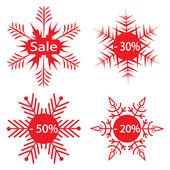 Snowflakes - the sale announcement. Vect — Stock Vector