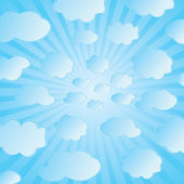Seamless vector illustration of clouds — Stock Vector