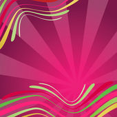 Abstract background with waves in pink c — Stock Vector