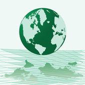 Vektör çizim haritası dünya — Stok Vektör