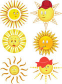 Collection of the sun — Stock Vector