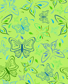 Abstract background with butterflies — Stock Vector