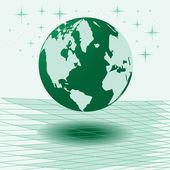 Mappa di illustrazione vettoriale del mondo — Vettoriale Stock