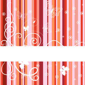 Red banner. Vector illustration — Stock Vector