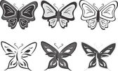 Collection of butterflies — Stock Vector
