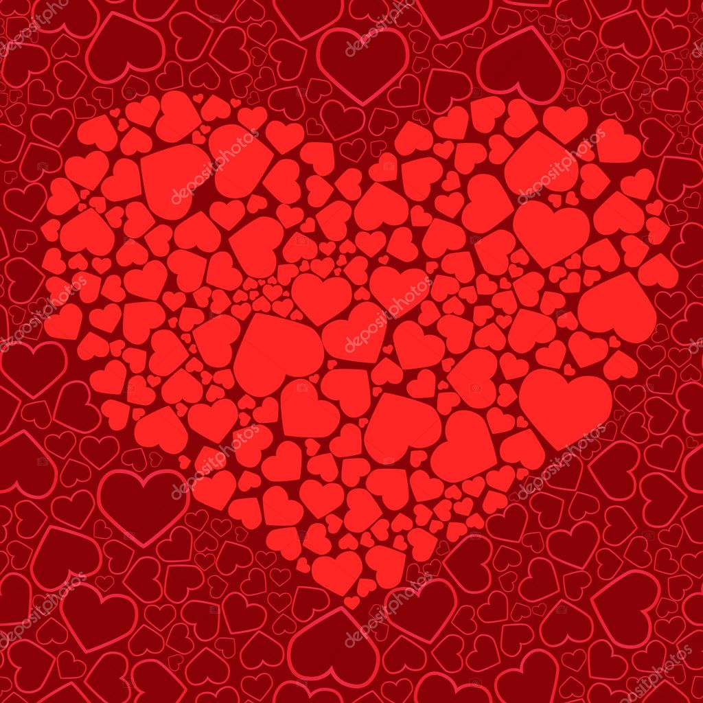 Valentine seamless background. Vector illustration — ベクター素材ストック #1132786