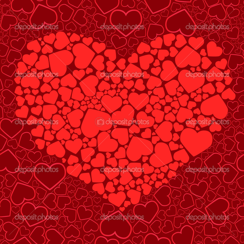 Valentine seamless background. Vector illustration — Vettoriali Stock  #1132786