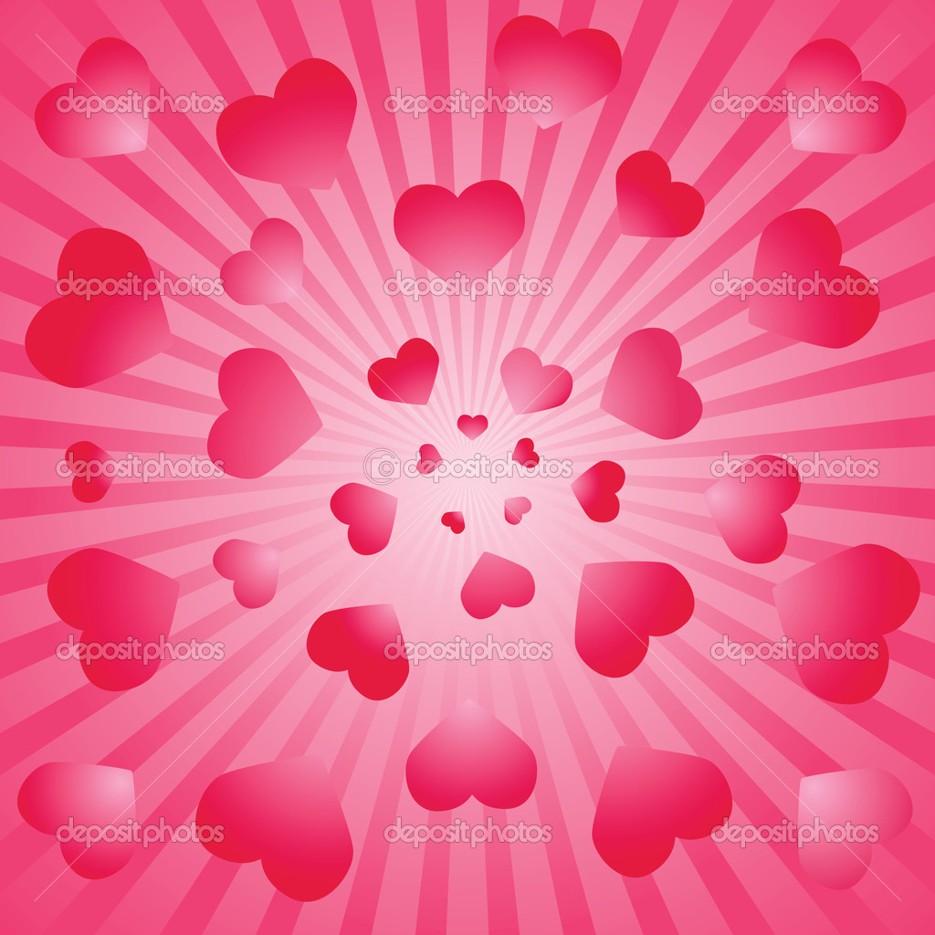 Valentine background. Vector illustration — Stock Vector #1132814