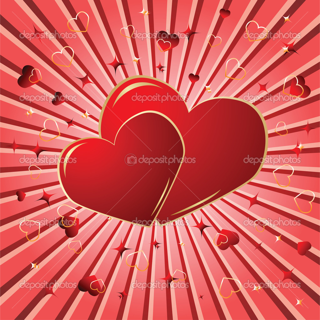 Valentine background. Vector illustration — Vettoriali Stock  #1132823