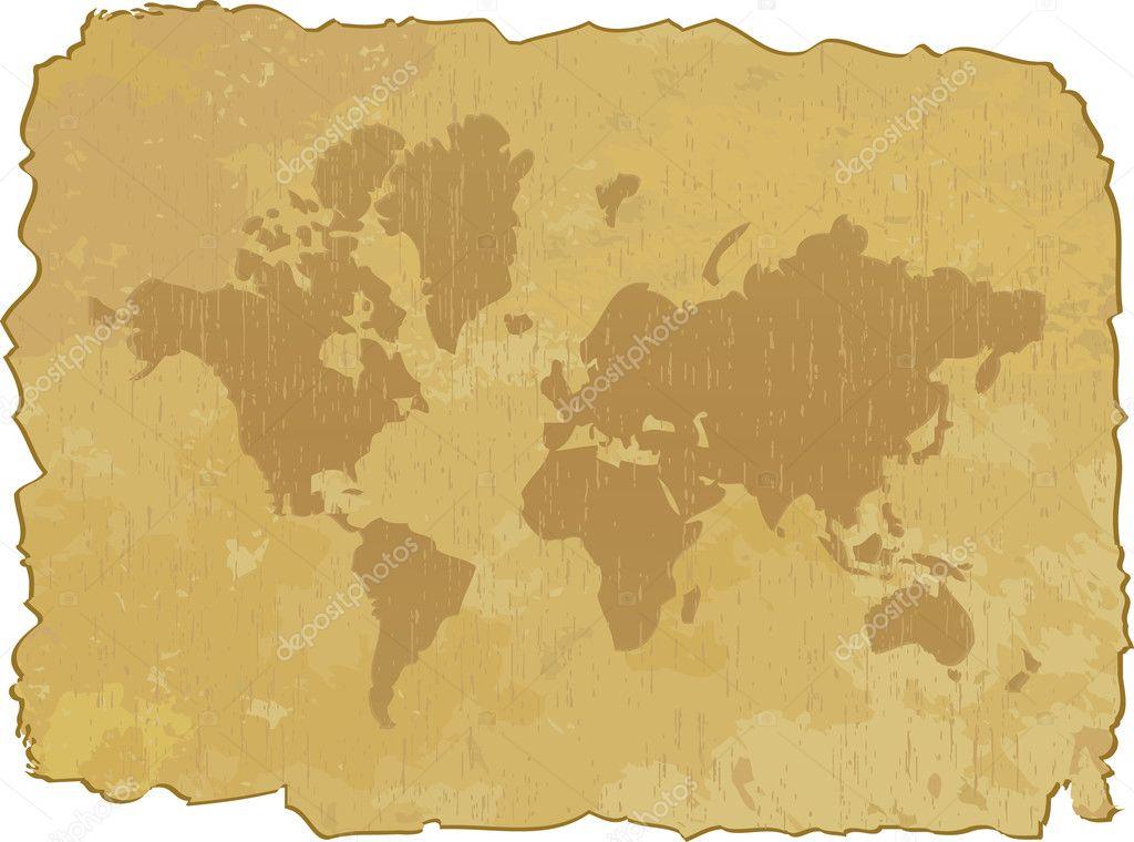 的世界地图.矢量插画
