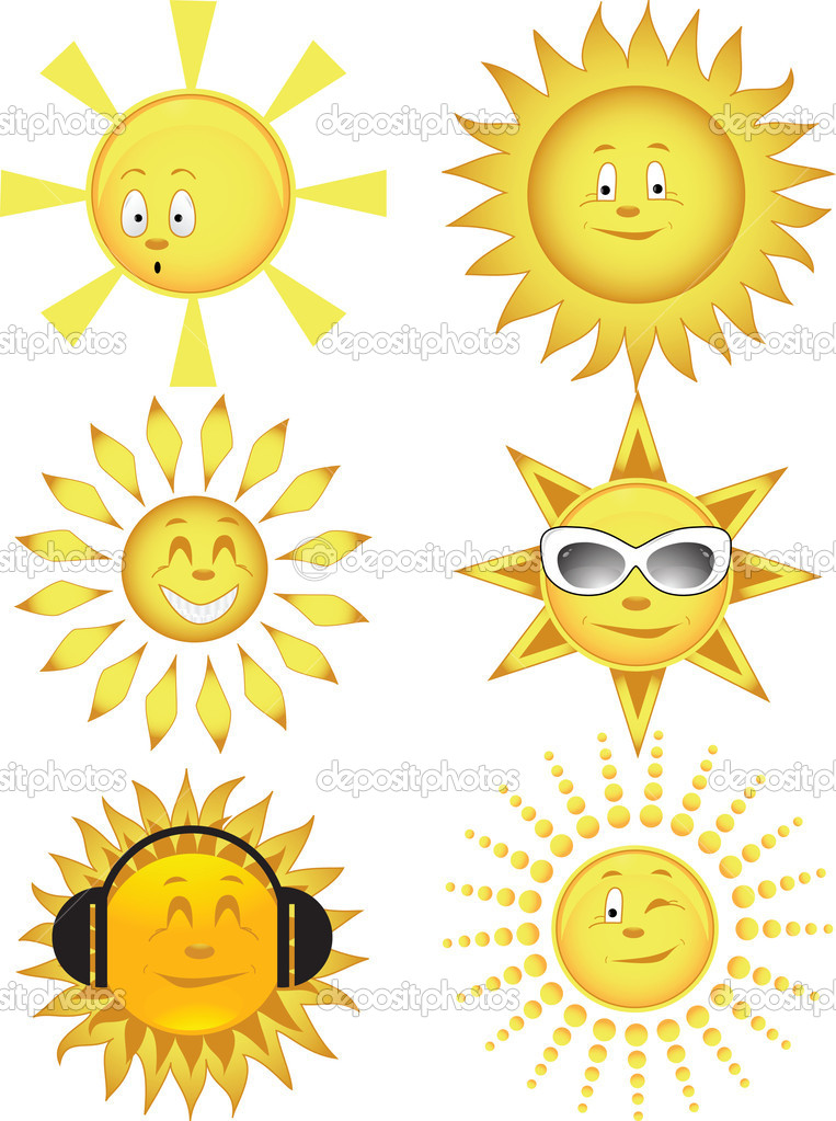 Collection of the sun. Vector illustration  Vettoriali Stock  #1134574