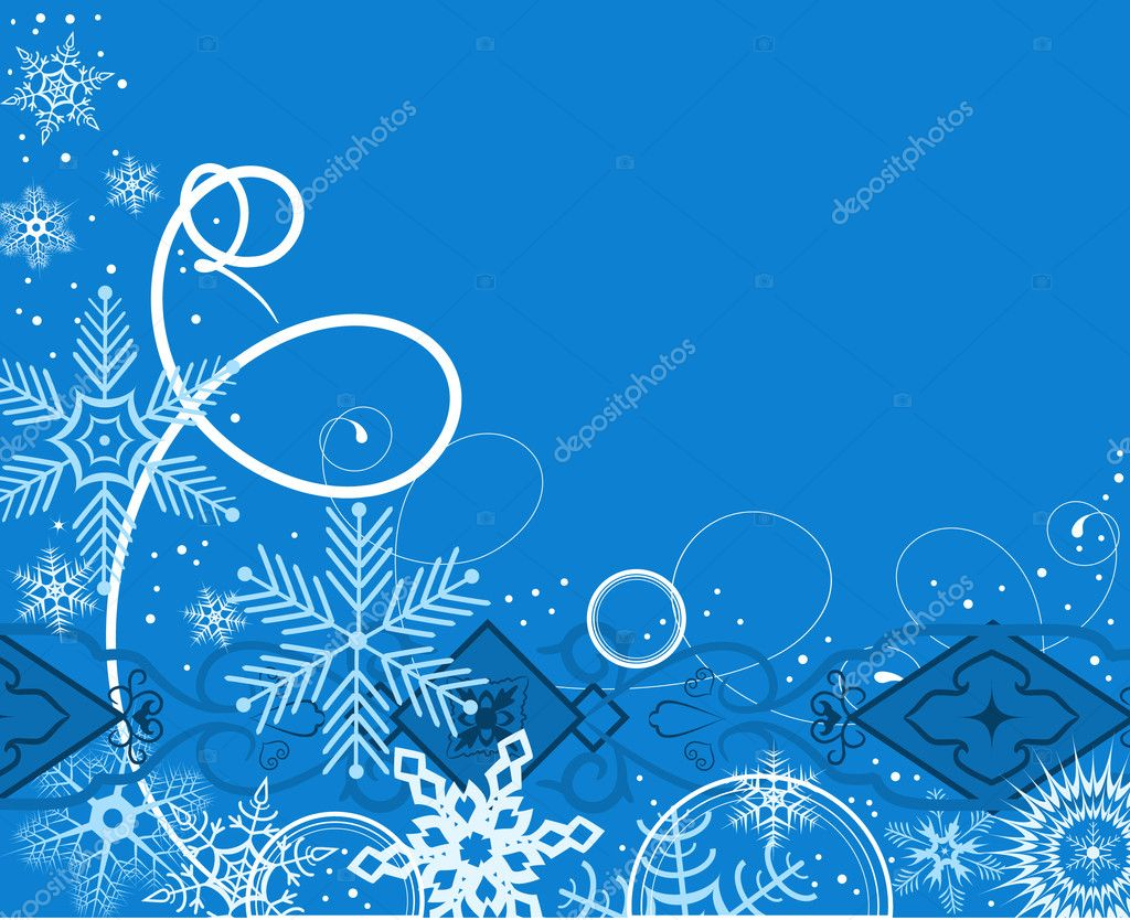 Winter background. Vector illustration — Stock Vector #1135644