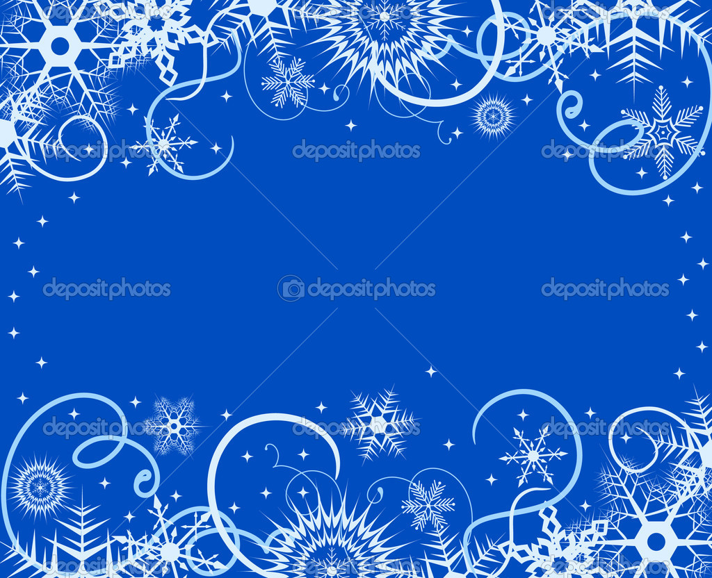 Winter background with snowflakes. Vector illustration  Stock Vector #1135671