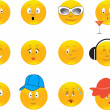 Collection of smiles — Stock Vector #1140190