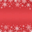 Red winter banner with snowflakes - Stok Vektör