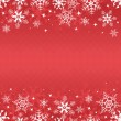 Red winter banner with snowflakes — Image vectorielle