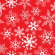 Red background with snowflakes - Stock Vector
