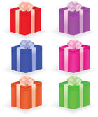 Gift boxes. Vector illustration — Stock Vector
