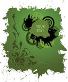 гранж баннера в зеленый цвет — Cтоковый вектор