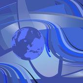 Vector illustratie kaart van wereld — Stockvector