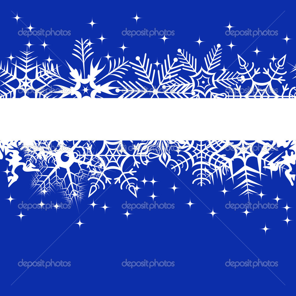 Blue winter banner with snowflakes — Stock Vector © Inna ...