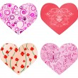 Royalty-Free Stock Vektorový obrázek: Collection of hearts