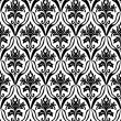 Black and white seamless pattern — ストックベクタ