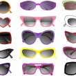 Collection of solar glasses — Stockvektor