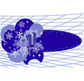 Kar taneleri ile kış banner — Stok Vektör
